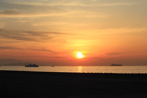 伊良湖の夕景