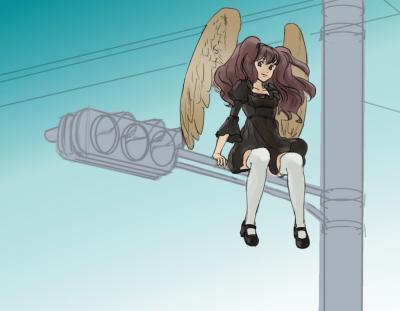 信号機と少女01