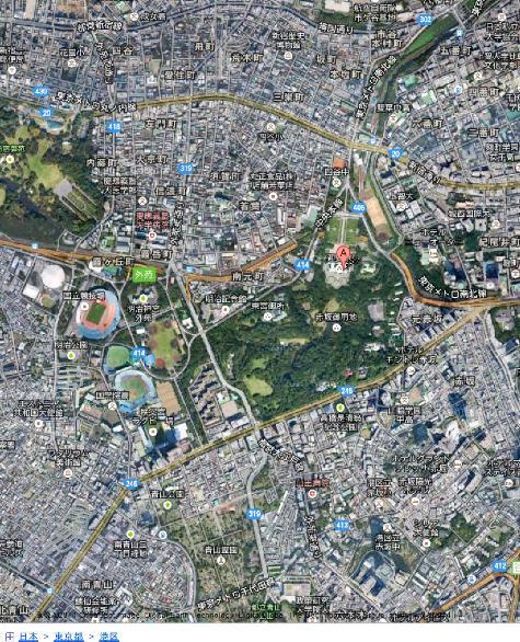 東京都港区元赤坂二丁目1番1号 - Google マップ0001