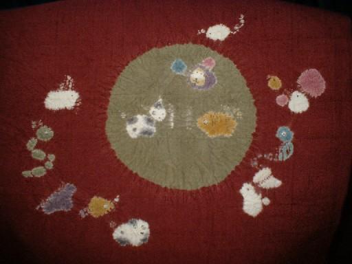赤城紬の十二支名古屋帯