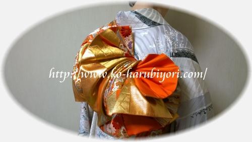 厚みのある袋帯の創作帯結び