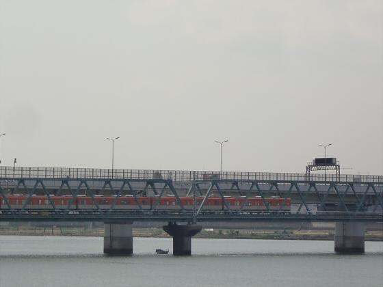 尼崎で阪神電車01