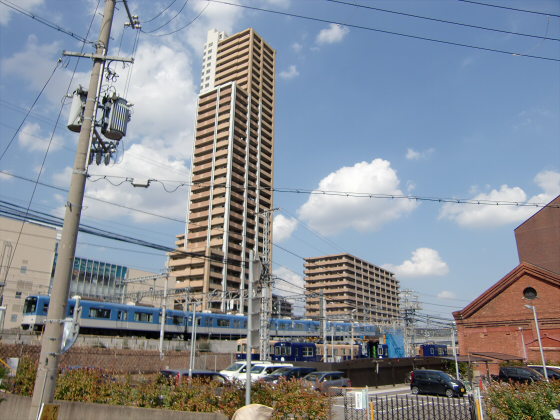 尼崎で阪神電車03