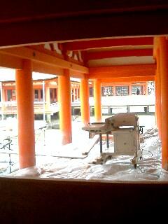 台風後厳島神社02