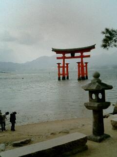 台風後厳島神社08