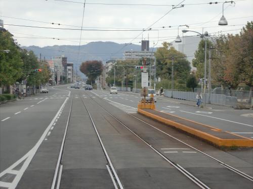 嵐電走行中2012秋08