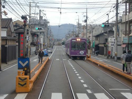 嵐電走行中2012秋10