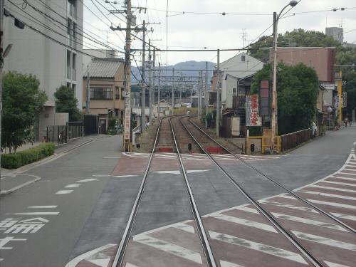 嵐電走行中2012秋11