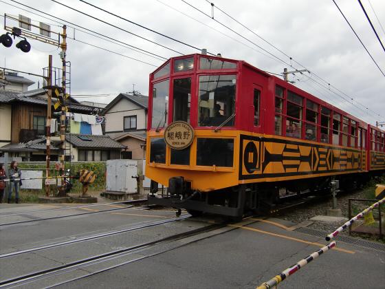 嵯峨野トロッコ列車01