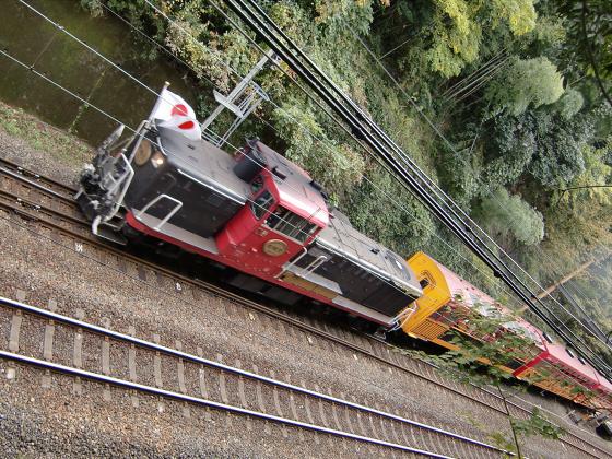 嵯峨野トロッコ列車05