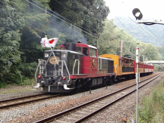 嵯峨野トロッコ列車09