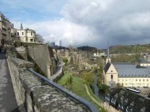 ルクセンブルグ城壁の跡1