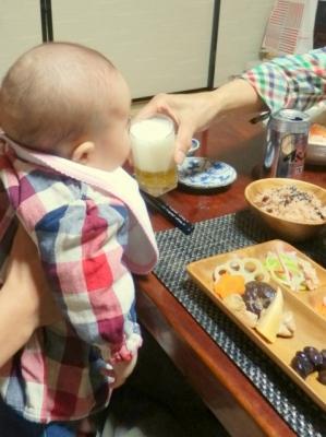 お食い初めビール