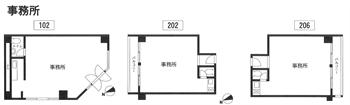 カーサグランデ102・202・206号事務所間取り図_R