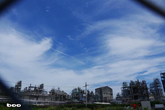 青空のもと・帝人工場