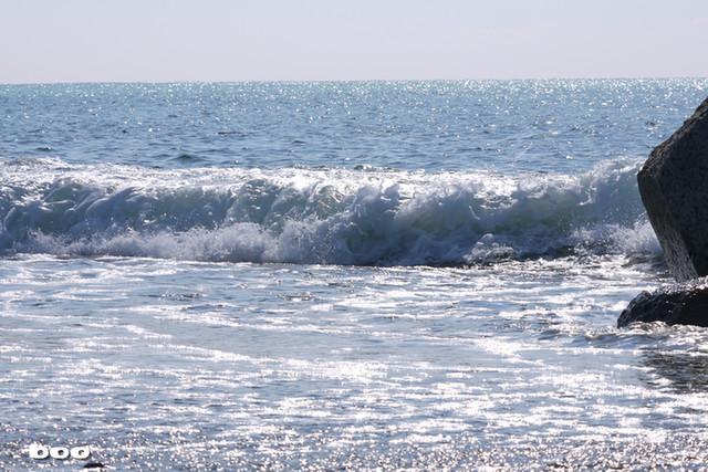 よく晴れた日の海