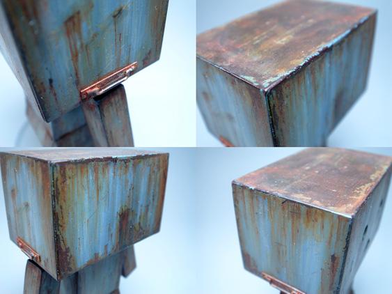■#002ダンボーミニ  IRON RUST (BLUE)■ダンボーミニ 鉄錆 制作記2■ダンボーミニ 鉄錆 制作記1