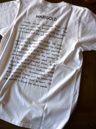 【niche.】 Flower Seeds Tee (GEUM/MARIGOLD) ニッチのフラワーシーズTシャツ