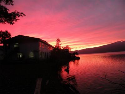 屈斜路湖の夕焼け