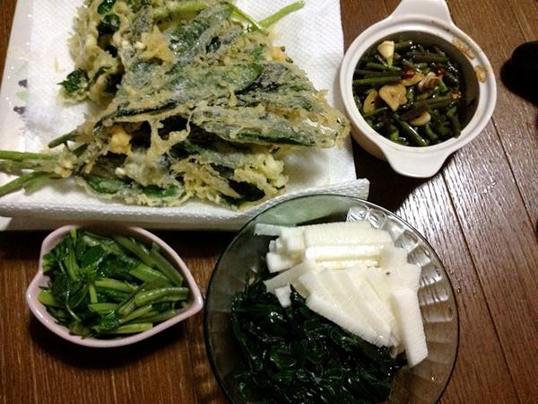 金時菜と花山葵^^