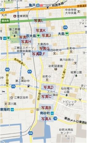 越中島貨物線地図