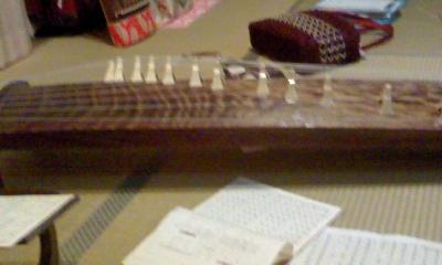 練習用の琴