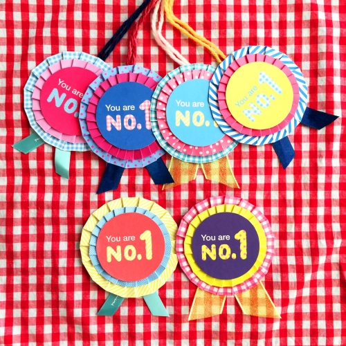 すべての折り紙 折り紙メダルの作り方 : 手作りロゼット風運動会メダル ...