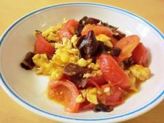 卵とトマトの中華炒め