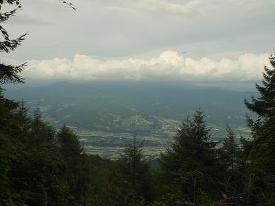 見下ろした韮崎市街②