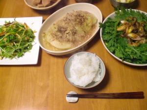 牡蠣・キャベツ・水菜