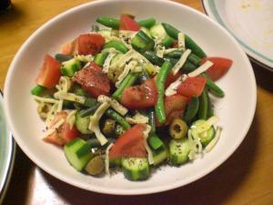 トマト・キュウリのサラダ