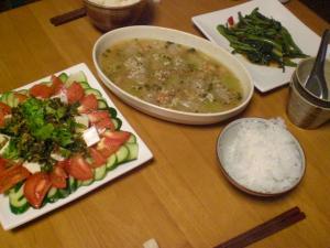 海老と冬瓜のスープ煮他