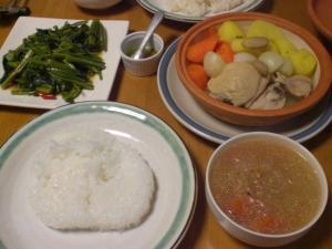 鶏と蒸し野菜