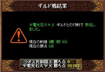 2月6日 ラオスGv VS電光石火_K様