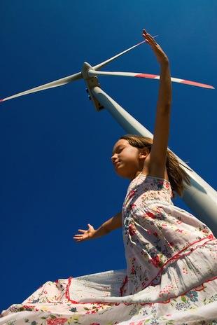風と女の子