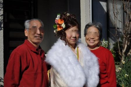 成人式ーおじいちゃん、おばあちゃん