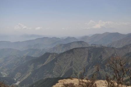 三ノ塔ー頂上(丹沢の山々)