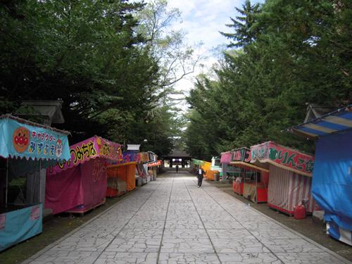 帯広神社入り口