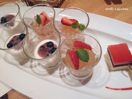 デザートは3種!