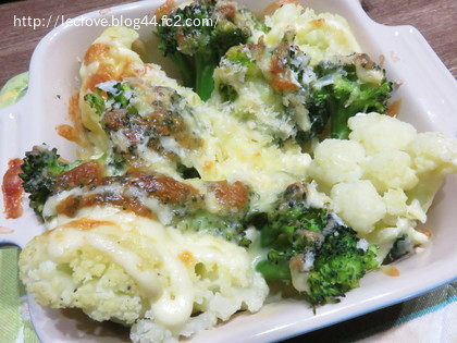 カリフラワーとブロッコリーのチーズ焼き