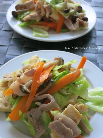 ボリューム副菜は、お豆腐のチャンプルー