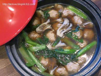 鶏肉団子と小松菜の煮物