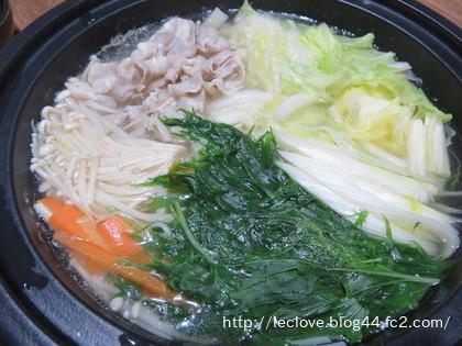 豚バラと野菜のお鍋