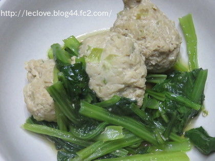 鶏ミンチと小松菜の煮物