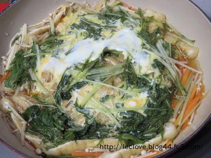 ビュッフェキャセロールで卵とじ