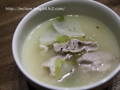 豚肉と大根のスープ