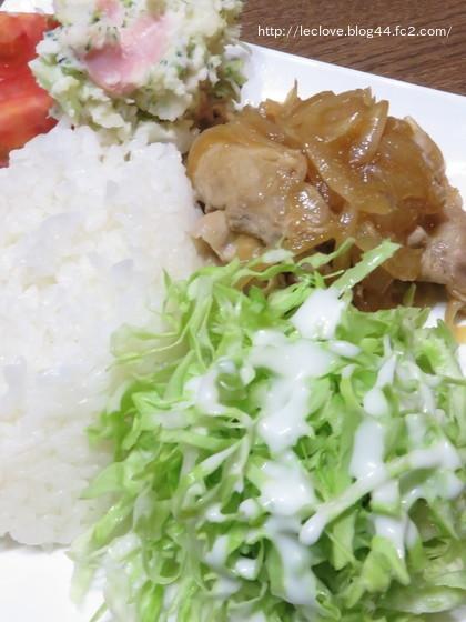 豚の生姜焼きワンプレート
