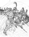ローマ軍団兵と蒸気銃