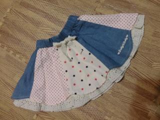 星柄スカート