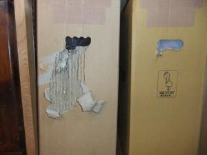 ボロボロのゴミ箱